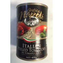 Tomato whole peeled in juice canned, 400g